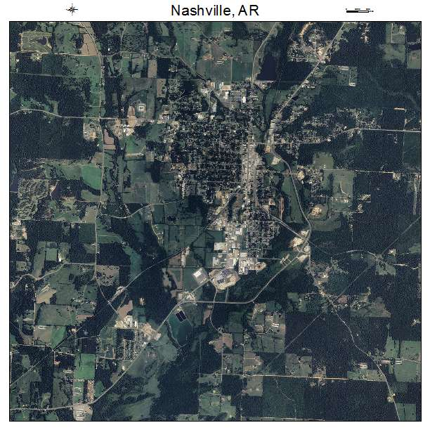 Aerial Photography Map Of Nashville AR Arkansas