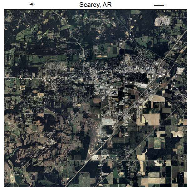 Aerial Photography Map of Searcy, AR Arkansas