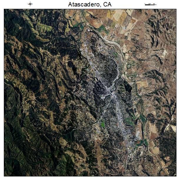 Atascadero, CA air photo map