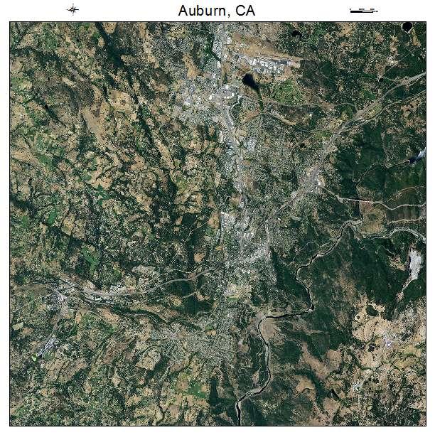Auburn, CA air photo map