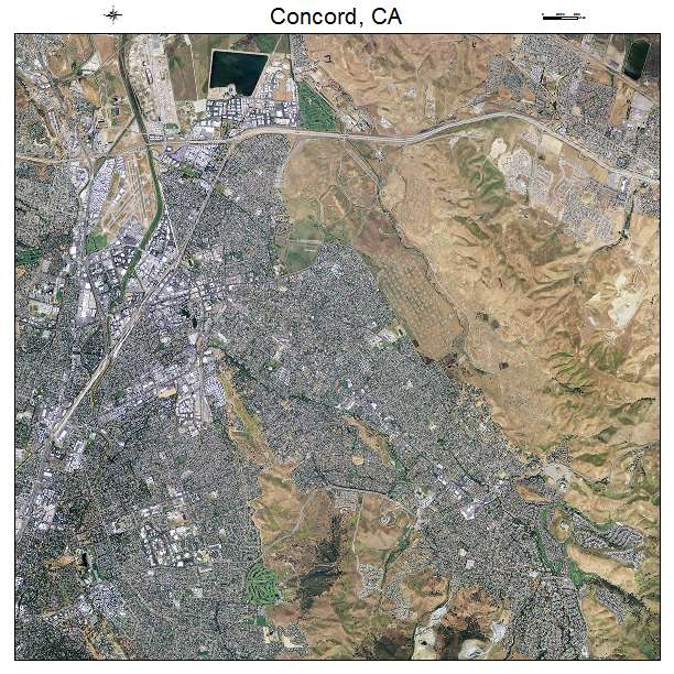 Aerial Photography Map of Concord CA California