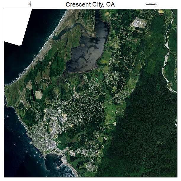 Crescent City, CA air photo map