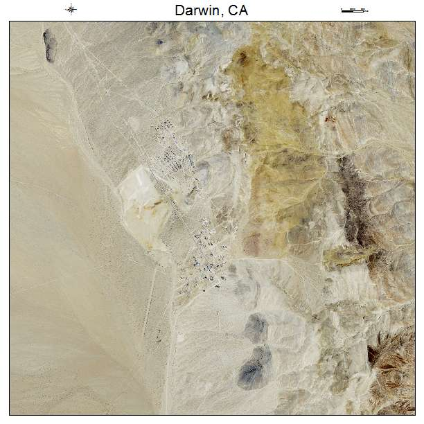 Darwin California Map.Aerial Photography Map Of Darwin Ca California