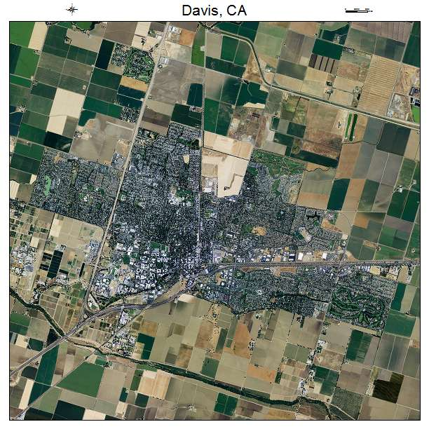 Aerial Photography Map Of Davis CA California