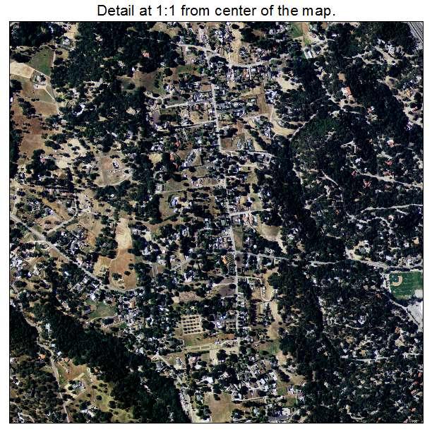 Atascadero, California aerial imagery detail