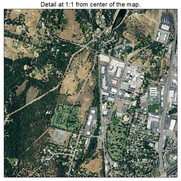 Auburn, California aerial imagery detail