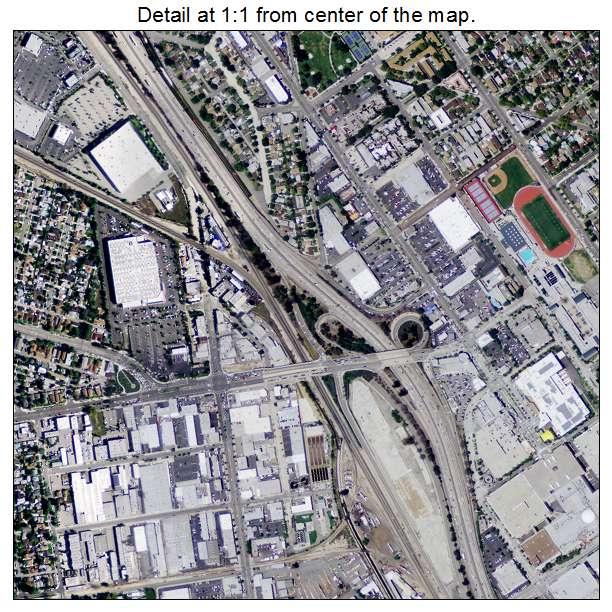 aerial photography map of burbank ca california. Black Bedroom Furniture Sets. Home Design Ideas