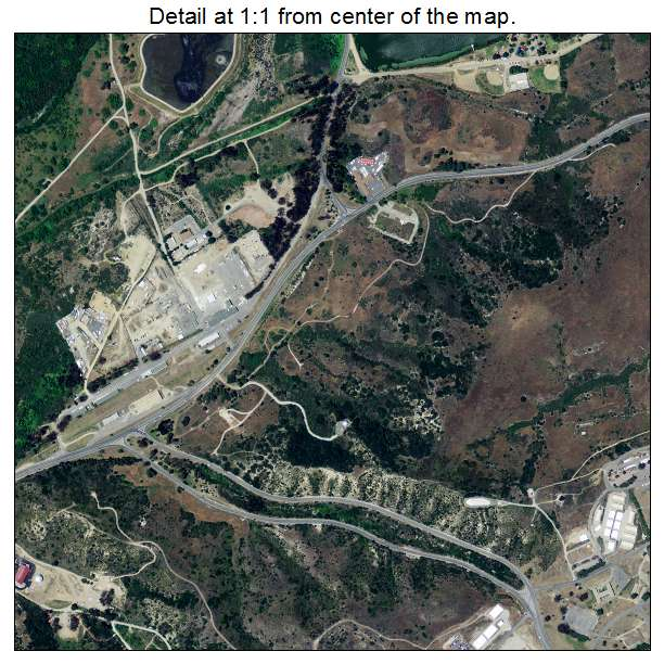 aerial photography map of camp pendleton north  ca california