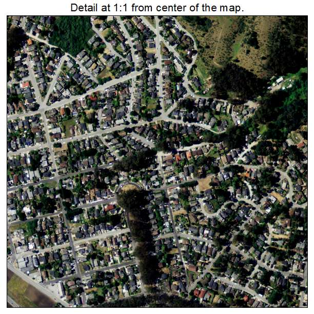 Aerial Photography Map of El Granada CA California