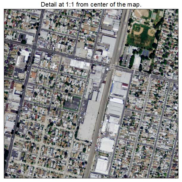 Aerial Photography Map of Florence Graham CA California