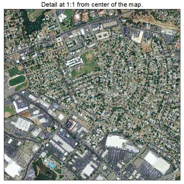 Folsom, California aerial imagery detail