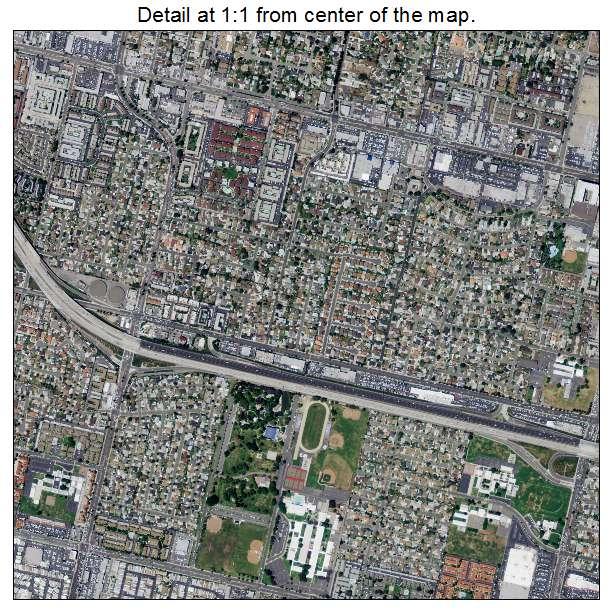 Aerial Photography Map Of Garden Grove Ca California