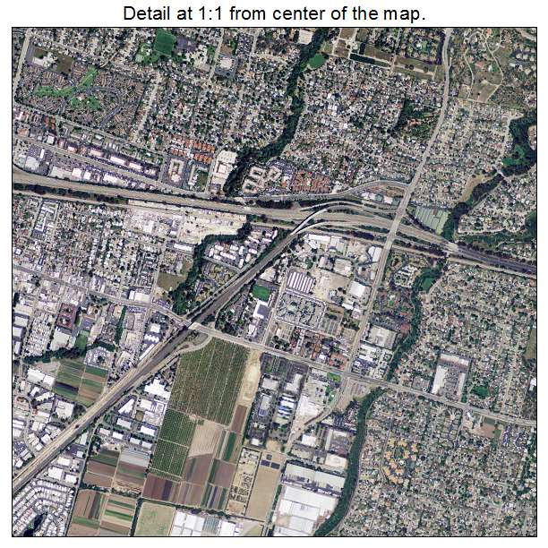 Goleta, California aerial imagery detail