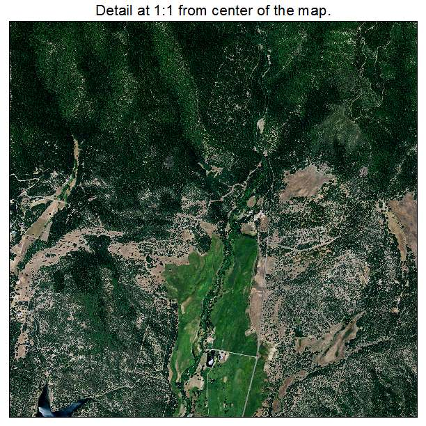 Hayfork, California aerial imagery detail