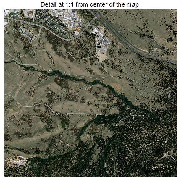 Mammoth Lakes, California aerial imagery detail