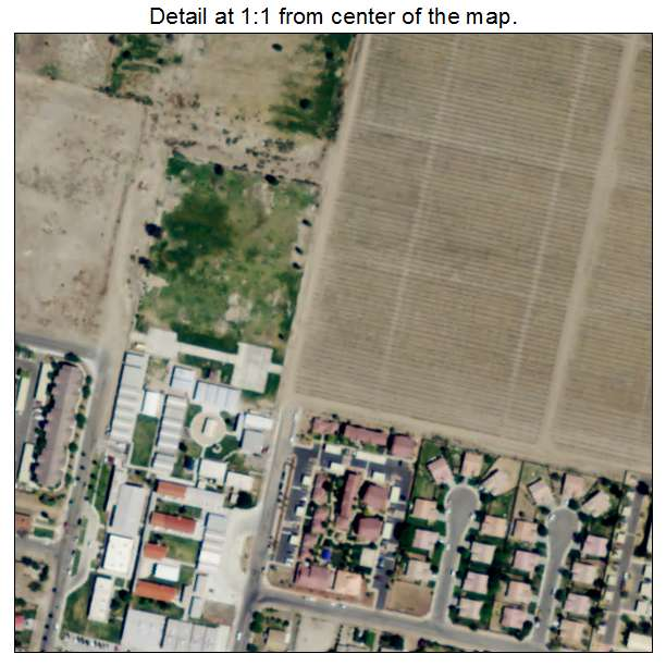 Aerial Photography Map Of Mecca Ca California