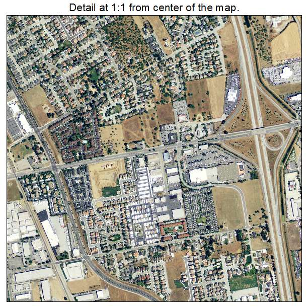 Aerial Photography Map Of Morgan Hill Ca California