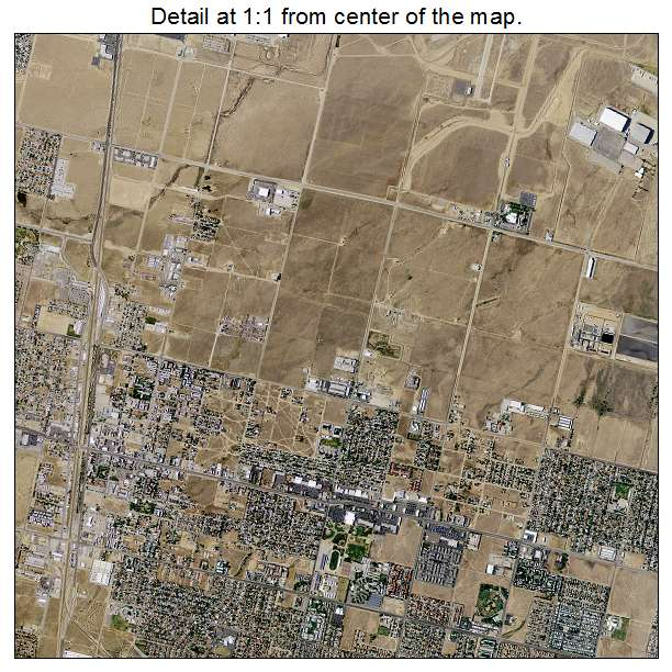 Palmdale, California aerial imagery detail