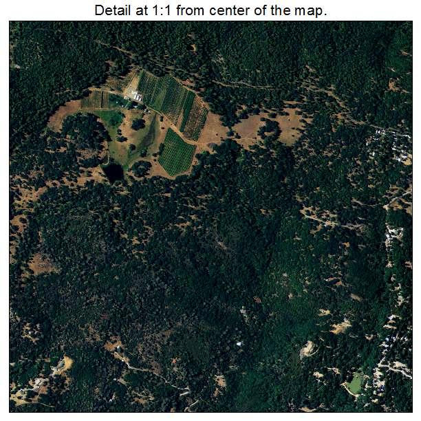 Aerial photography map of phoenix lake cedar ridge ca for Cedar ridge storage