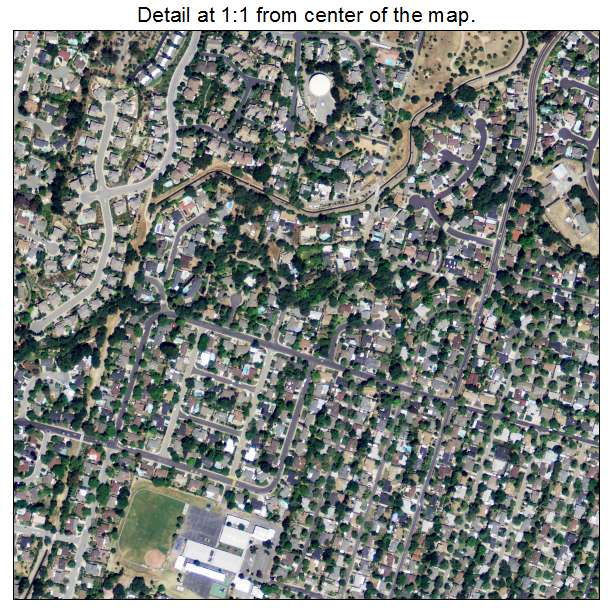 Aerial Photography Map Of Pleasant Hill Ca California