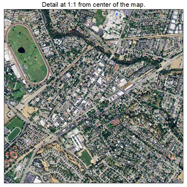 Aerial Photography Map Of Pleasanton Ca California