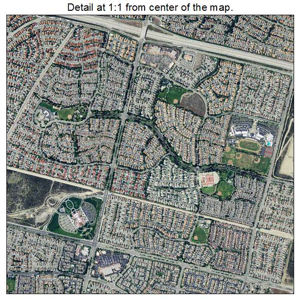 Rancho Cucamonga, California aerial imagery detail