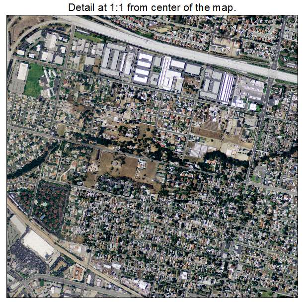 San Dimas, California aerial imagery detail
