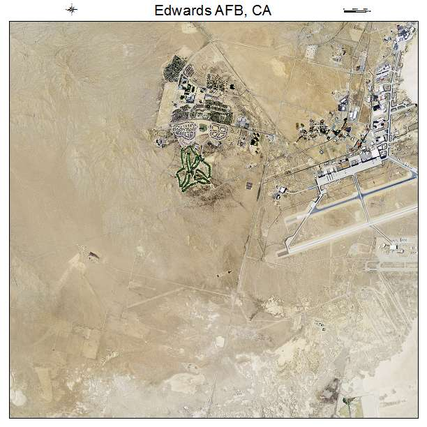 Aerial Photography Map of Edwards AFB, CA California on