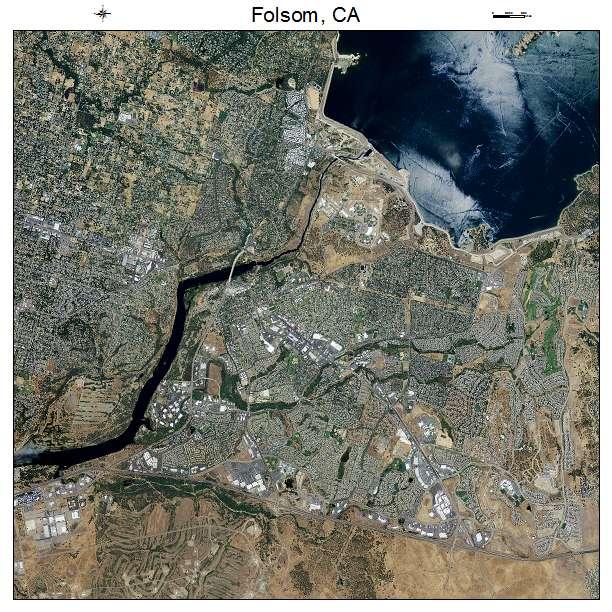 Folsom, CA air photo map