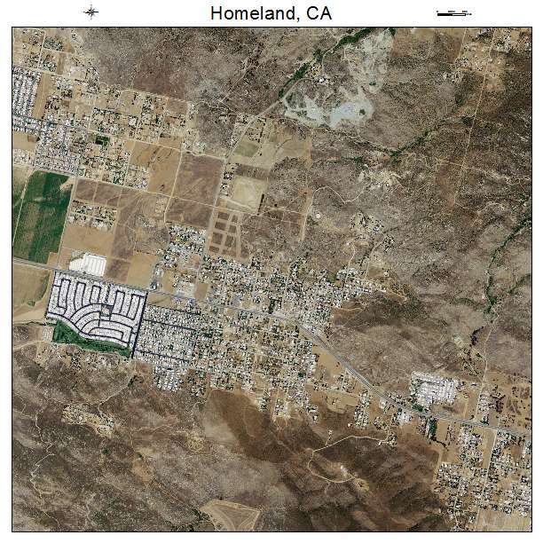 Homeland California Map.Aerial Photography Map Of Homeland Ca California