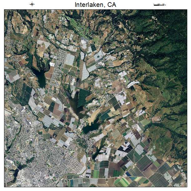 Aerial Photography Map of Interlaken CA California