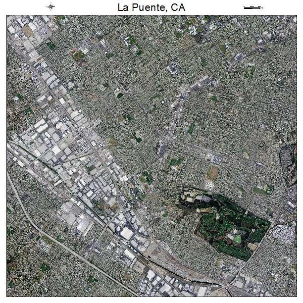 Aerial Photography Map of La Puente CA