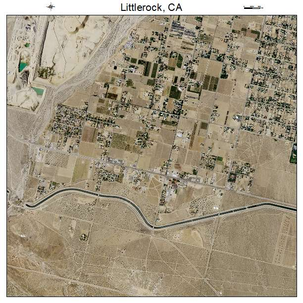 Littlerock, CA air photo map