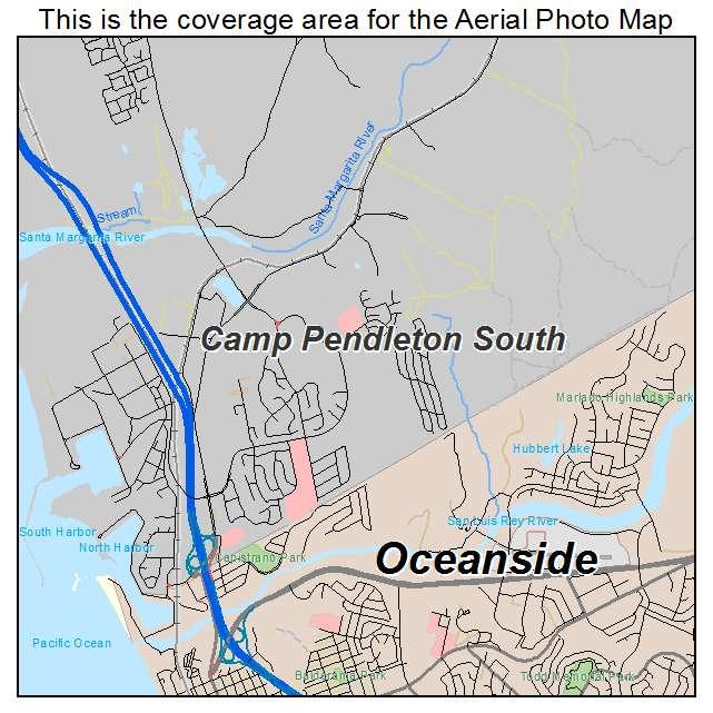 camping  camp pendleton map
