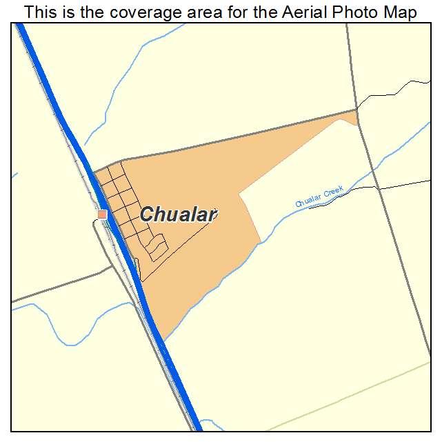 Aerial Photography Map of Chualar CA California