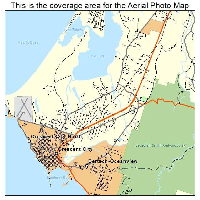 Crescent City, CA location map