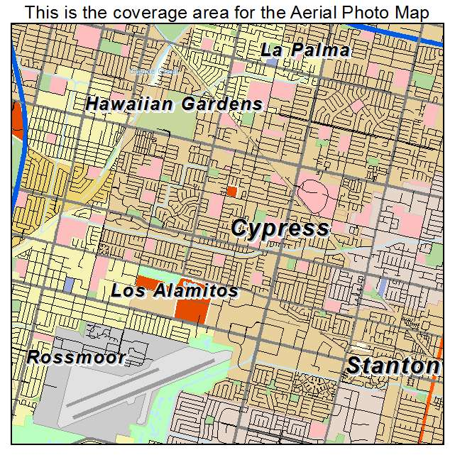 Cypress Ca California Aerial Photography Map 2014