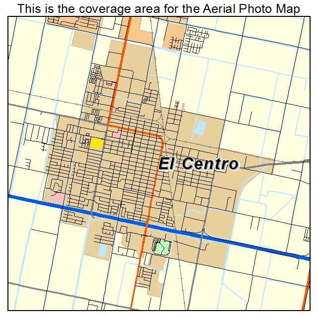 El Centro Ca California Aerial Photography Map 2014