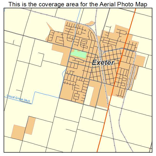 Aerial Photography Map of Exeter CA California