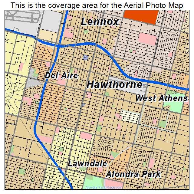 Hawthorne California Map.Hawthorne Ca California Aerial Photography Map 2014