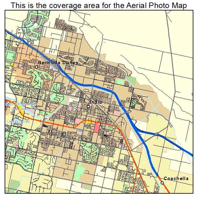Indio, CA California Aerial Photography Map 2014
