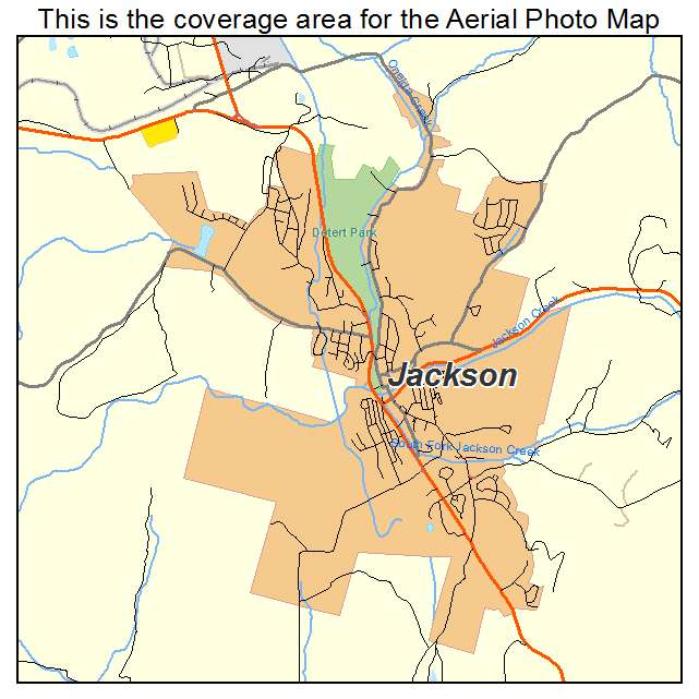 Aerial Photography Map Of Jackson CA California