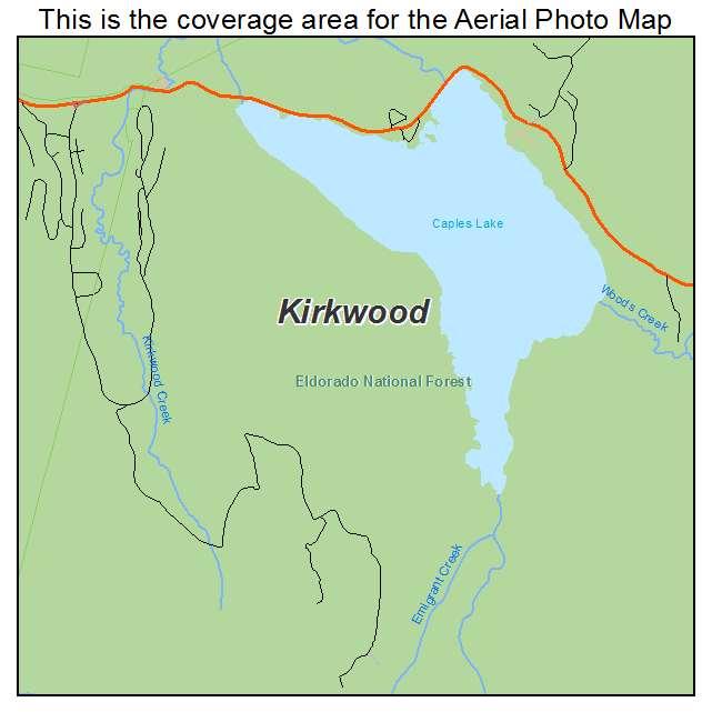 Aerial Photography Map Of Kirkwood CA California