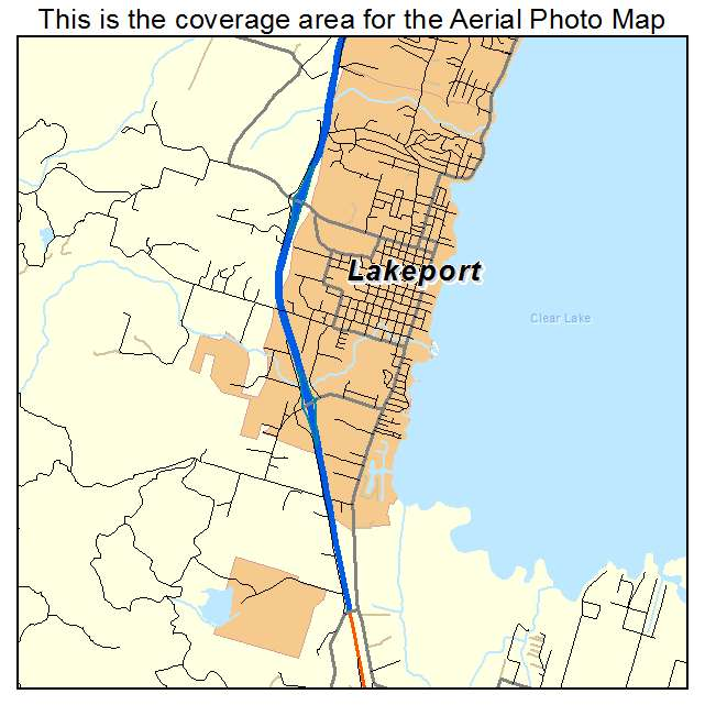 Aerial Photography Map Of Lakeport Ca California