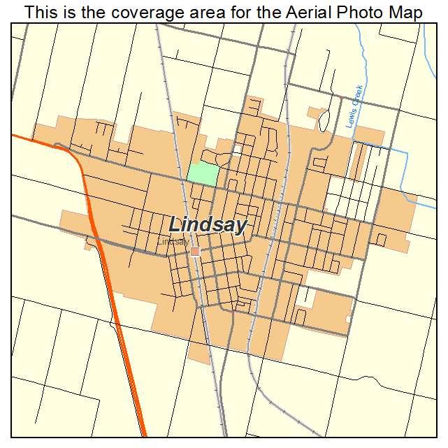 Lindsay California Map.Aerial Photography Map Of Lindsay Ca California