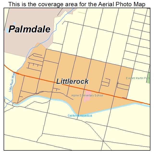 Littlerock, CA location map