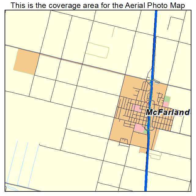 Aerial Photography Map of McFarland, CA California