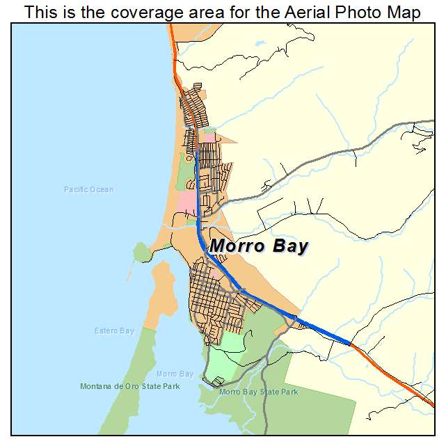 Morro Bay Ca Map Images