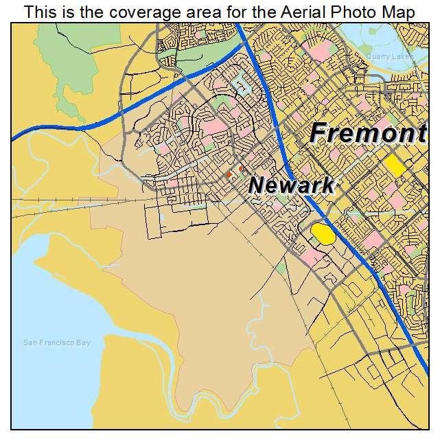 Aerial Photography Map Of Newark CA California