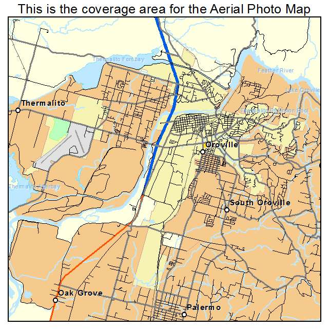 Oroville California Map >> Oroville Ca California Aerial Photography Map 2014